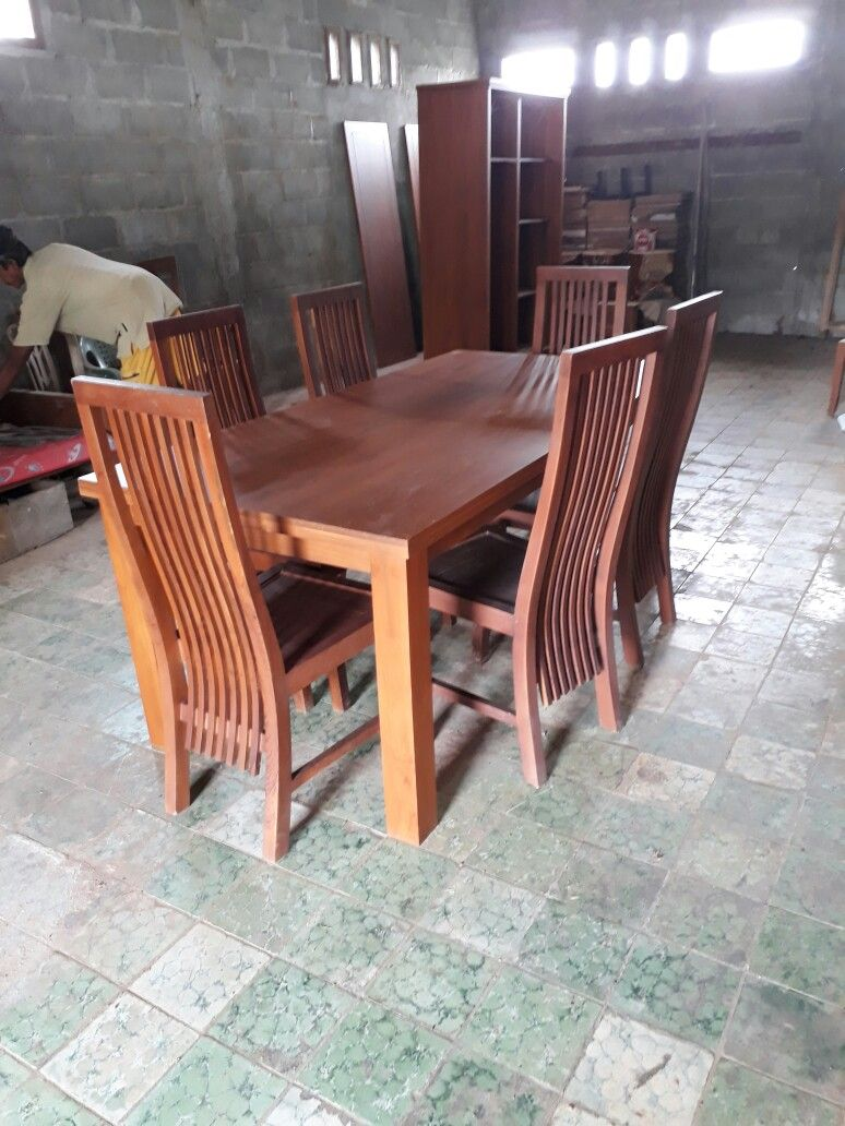 Meja makan minimalis dinning table teak furniture dinning table designer dresses dinner