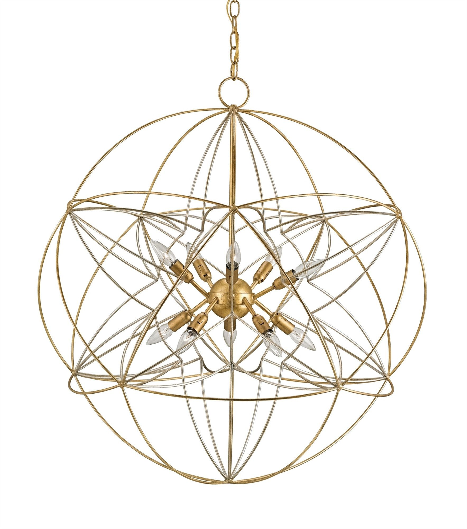Zenda Orb Chandelier design by Currey & pany
