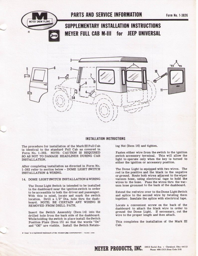 Meyer Full And Half Cab Late 60 Jeep Willys World Willys Jeep Cab Meyer