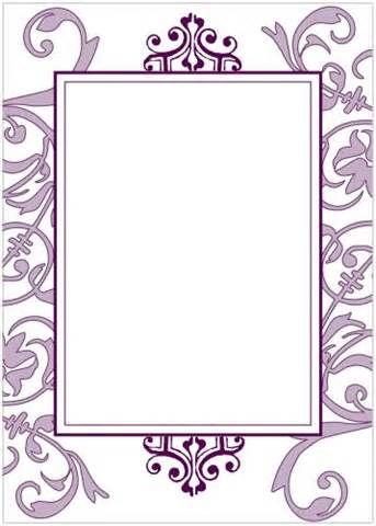 Blank Wedding Invitation Cards Template Design Wedding - blank card template