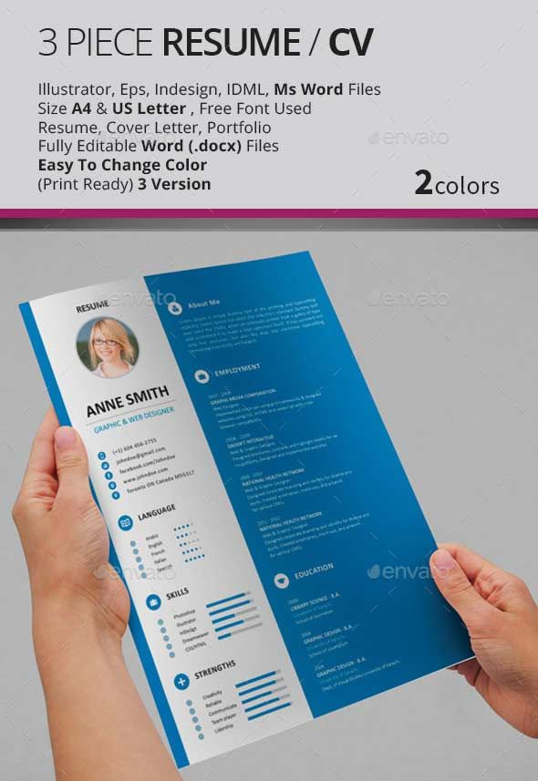 Professional Cv Template Word And Psd Pdf  Projects To Try