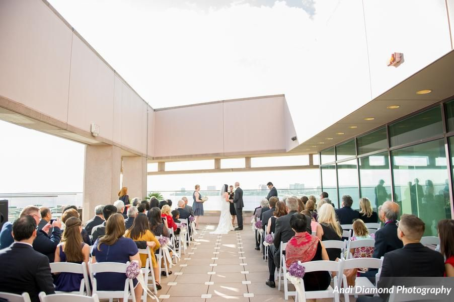 Terrace Wedding Water Beach Ceremony Armani S Andi Diamond Photography