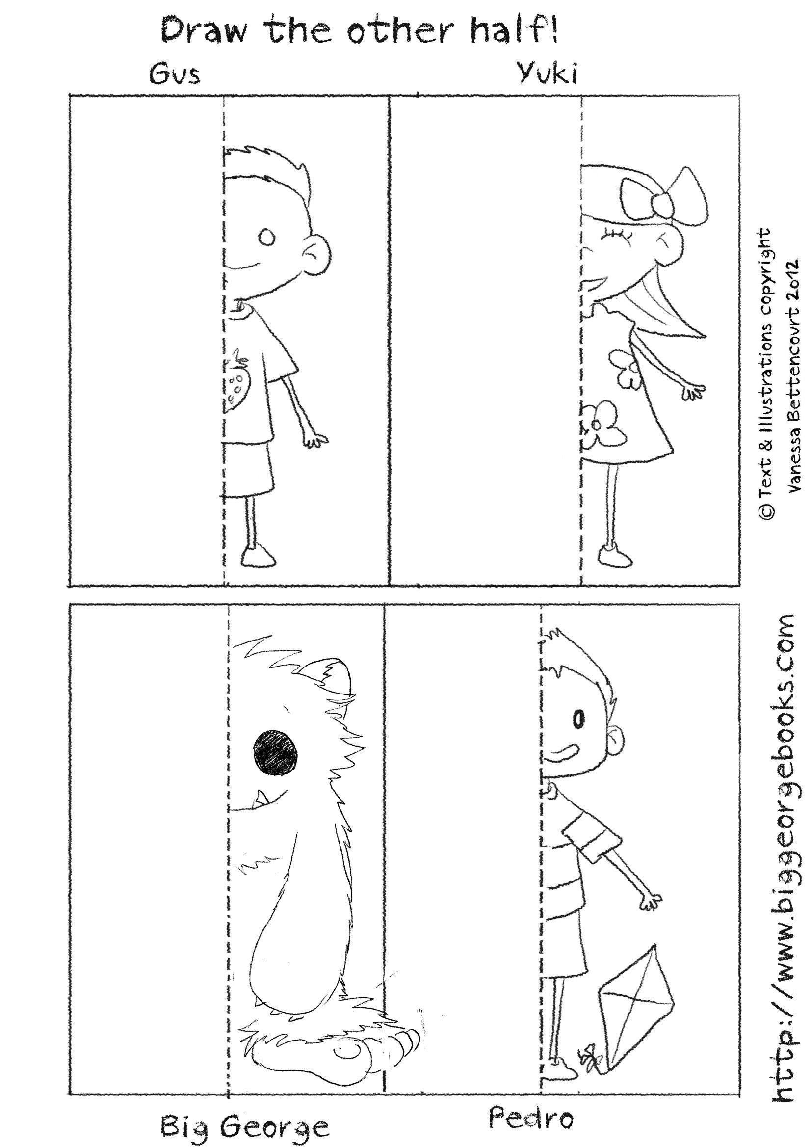 Draw The Other Half Download More Free Worsheets From The Site Drawingactivitiesforkids Kinderg Kindergarten Drawing Preschool Activities Worksheets Free [ 2339 x 1653 Pixel ]