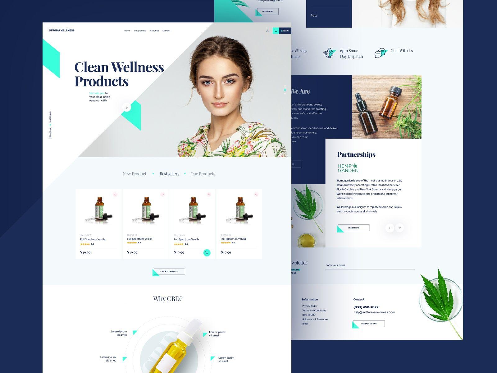 Cbd Marketing Company Web Mock Up In 2020 Website Design Website Design Mockup Medical Website Design
