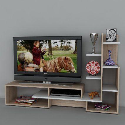 Nice Wohnwand Mild   Weiß / Buche   Fernsehtisch   TV Board In Modernem Design Awesome Design