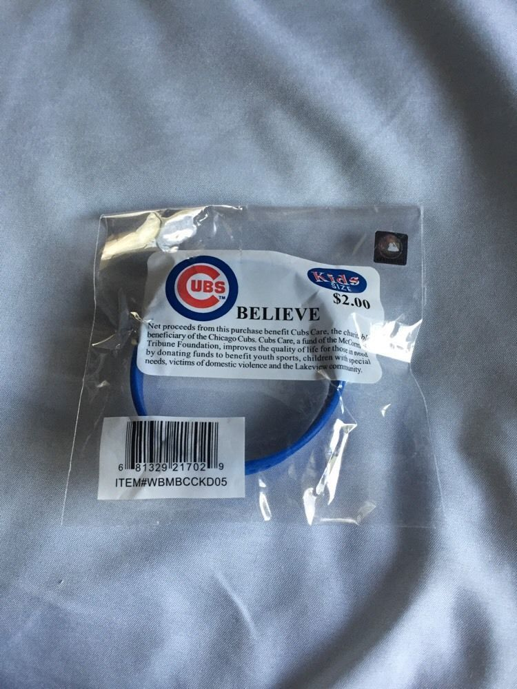 Chicago Cubs 2005 Believe Bracelet Wristband New Original Packaging Kids Size Chicagocubs
