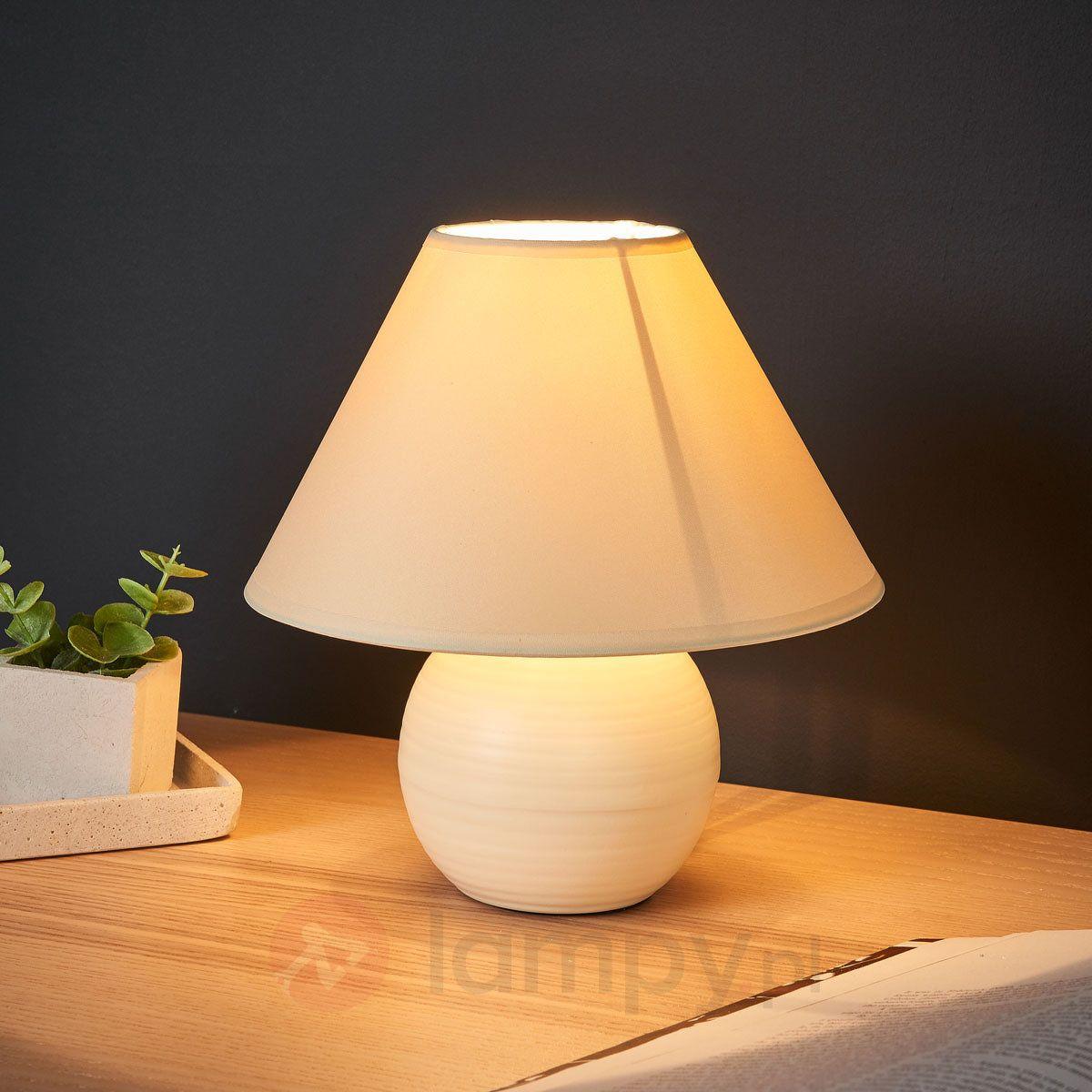 Kaddy Lampa Stołowa Z Ceramiczną Podstawą