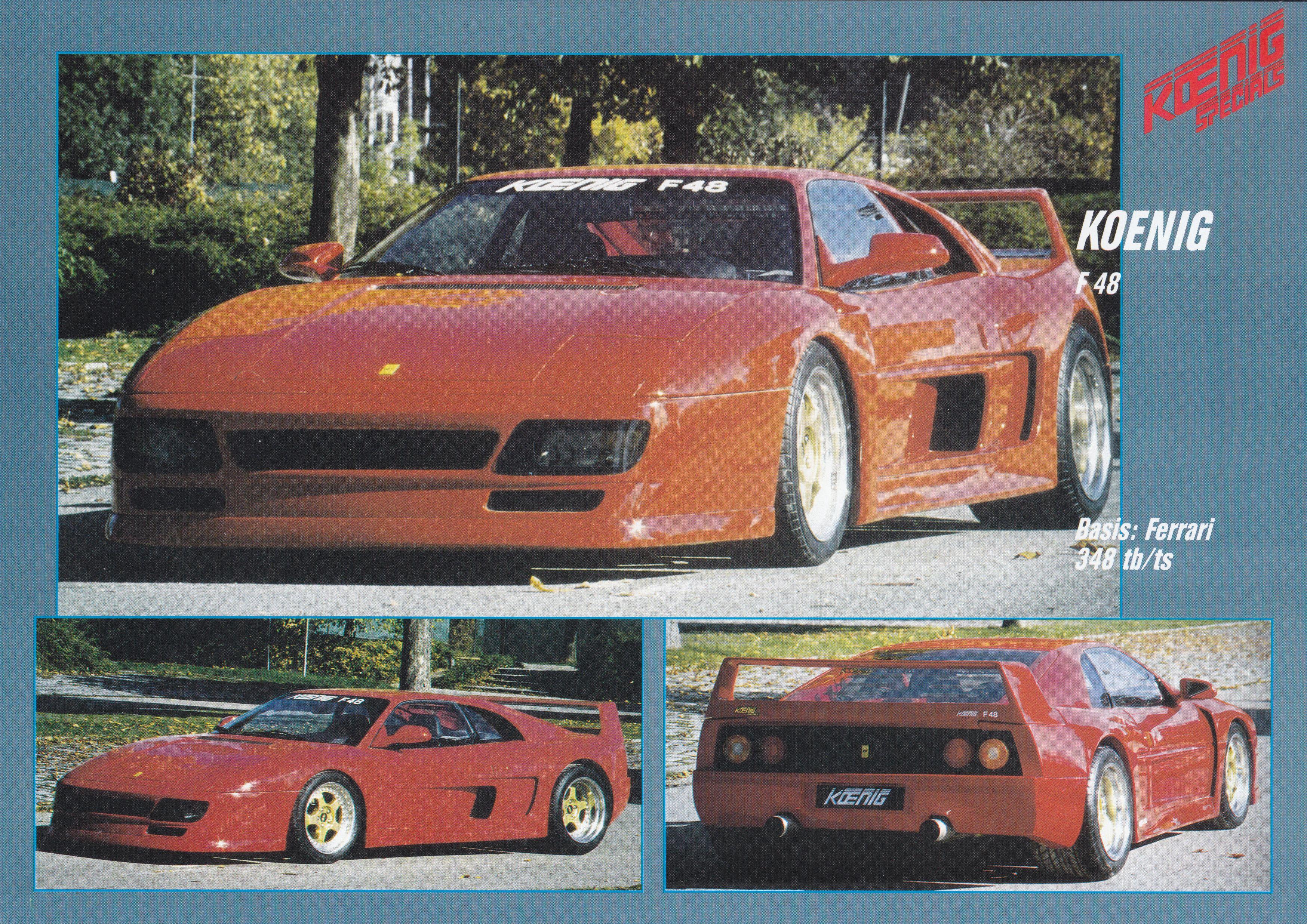 Ferrari F48 Conversion By Koenig Leaflet German English Ferrari 348 Ferrari Cars For Sale