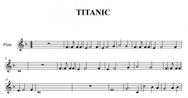 Titanic: Partitura Para Flauta Dulce