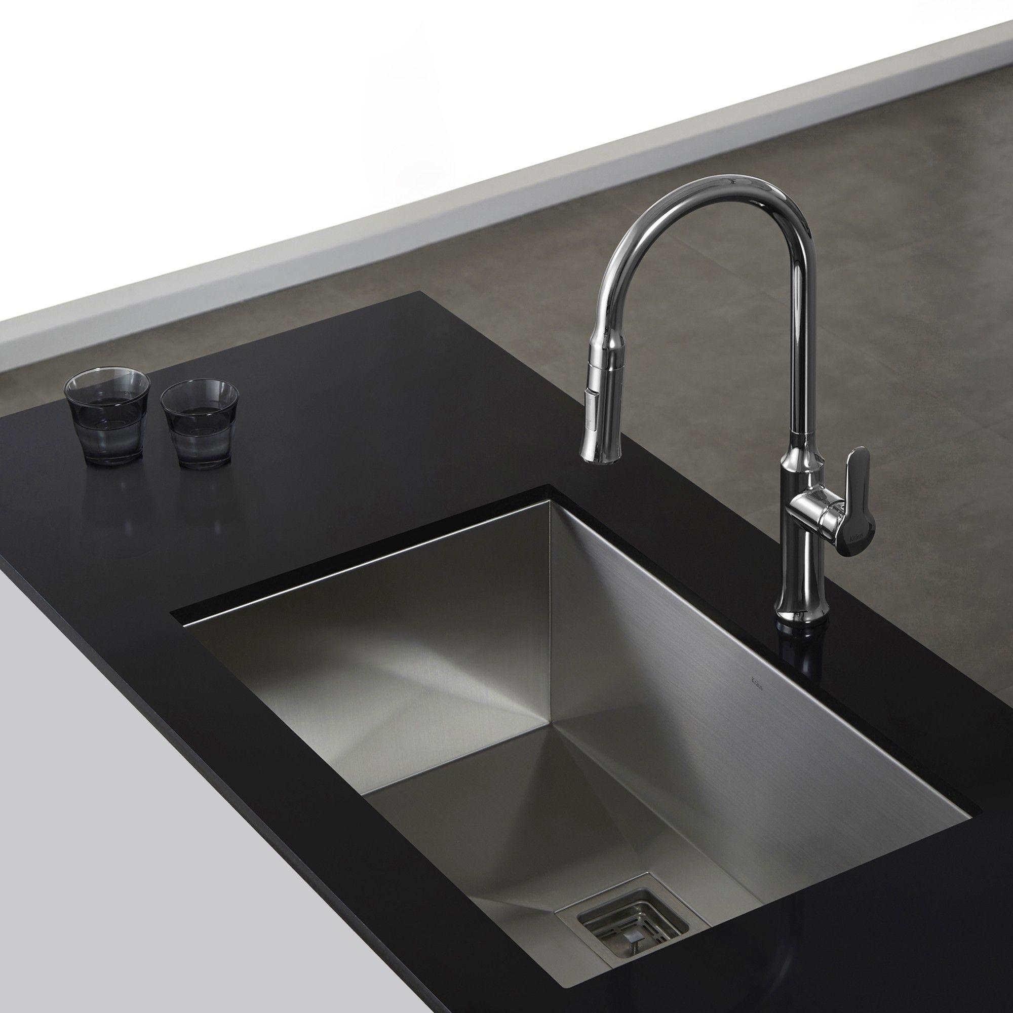 The Pax™ Zero-Radius 28 1/2 Inch Kitchen Sink has a clean, geometric ...