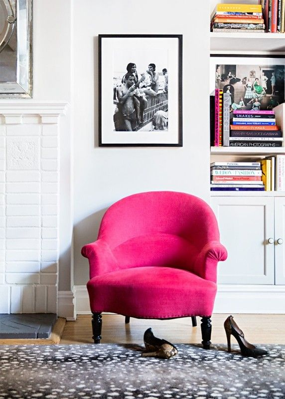 Hot Pink Accent Chair Foter House Interior Decor
