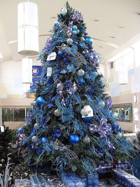 Blue Christmas Tree Decorating Ideas christmas tree decoration - blue and silver christmas decorationschristmas tree decorations