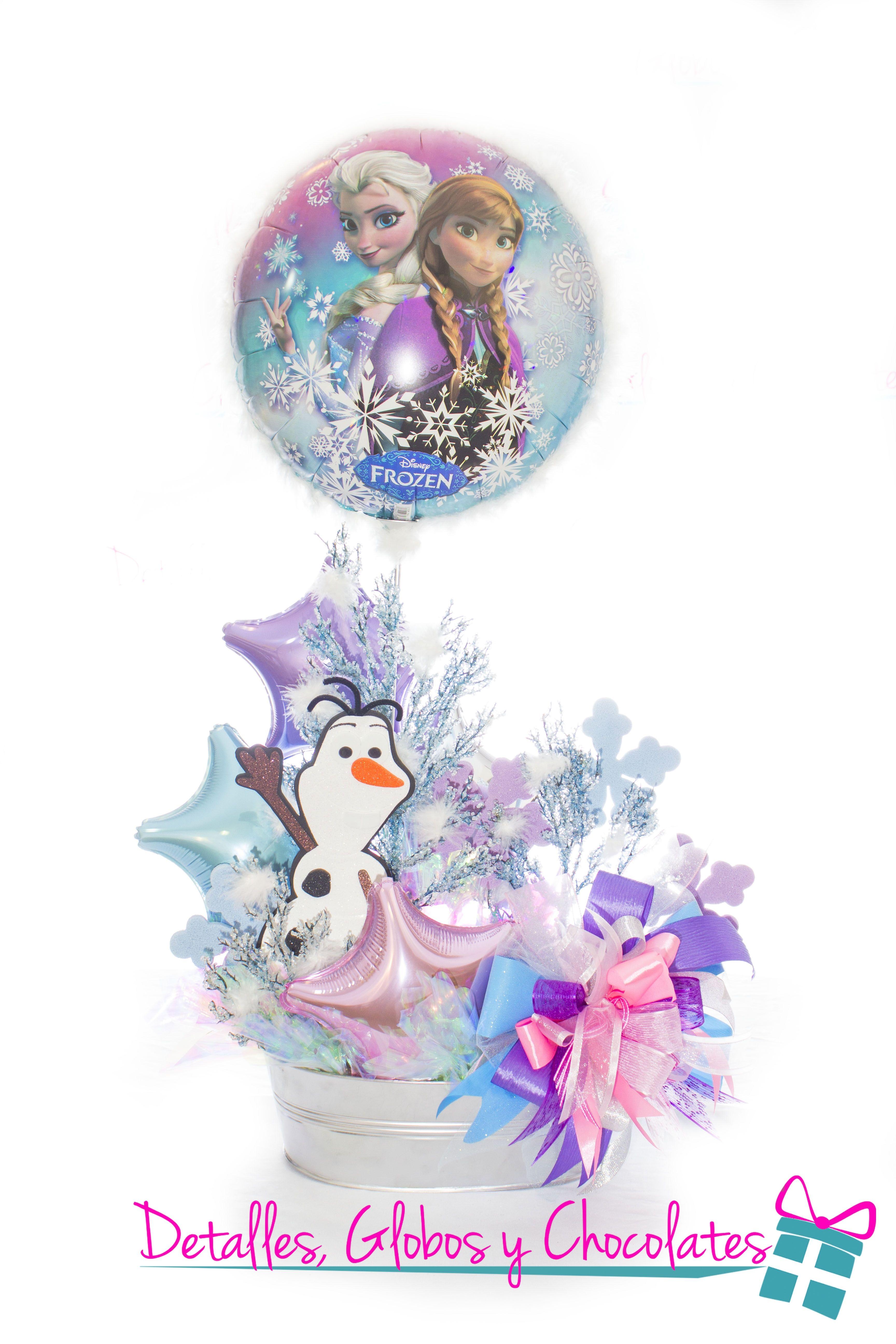 Balloon Decorations Fiesta Frozen Centro De Mesa Principal Frozen