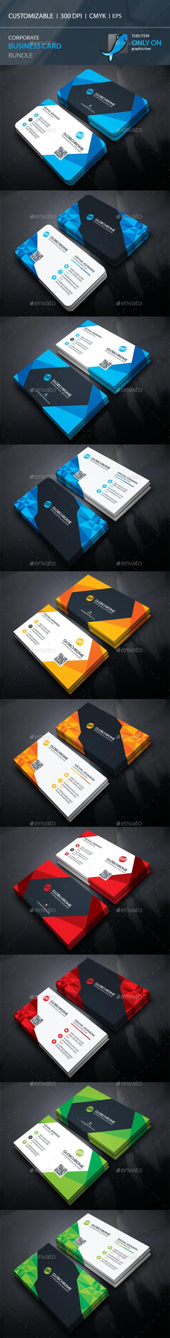 Corporate Business Card Bundle - Template Vector EPS, AI Illustrator ...