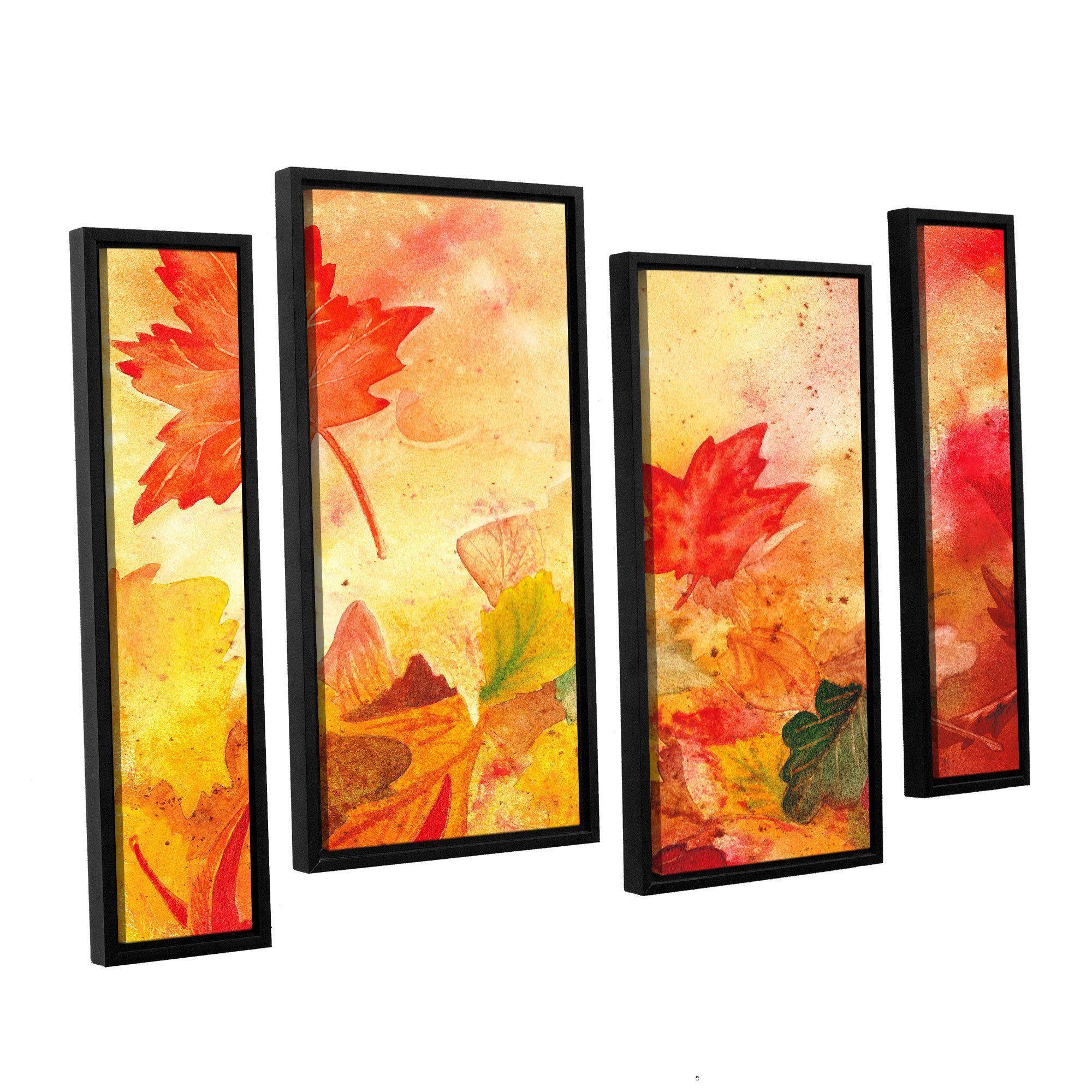 ArtWall Irina Sztukowsi\'s Autumn Dance 4-piece Floater Framed ...