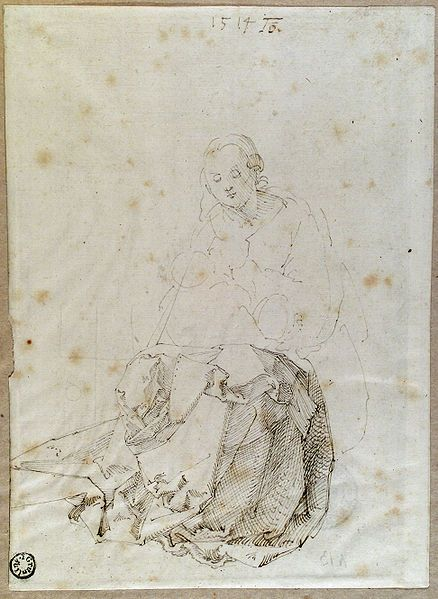 Dürer, Mary seated with Child