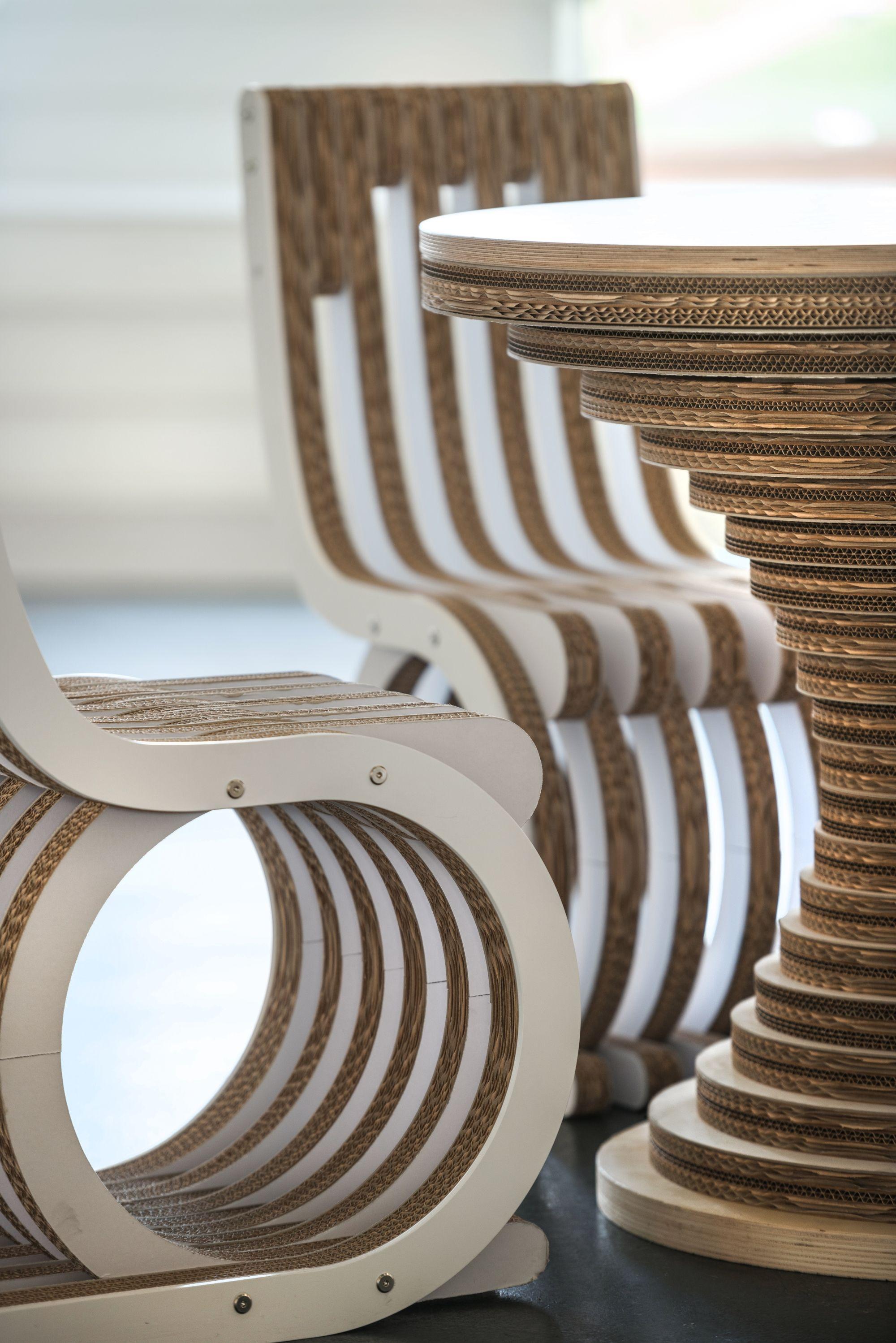 cardboard furniture hotel design cardboard table cardboard chair rh pinterest ch