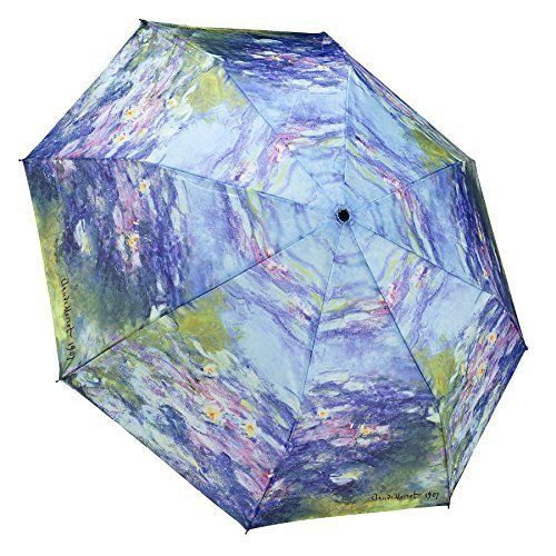 Best MONET Water Lilies Folding Umbrella Offer - LightBagTravel.com