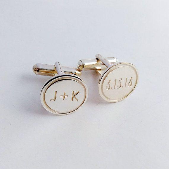 Personalized Wedding Cufflinks,Groom Wedding Cufflinks,Date and ...