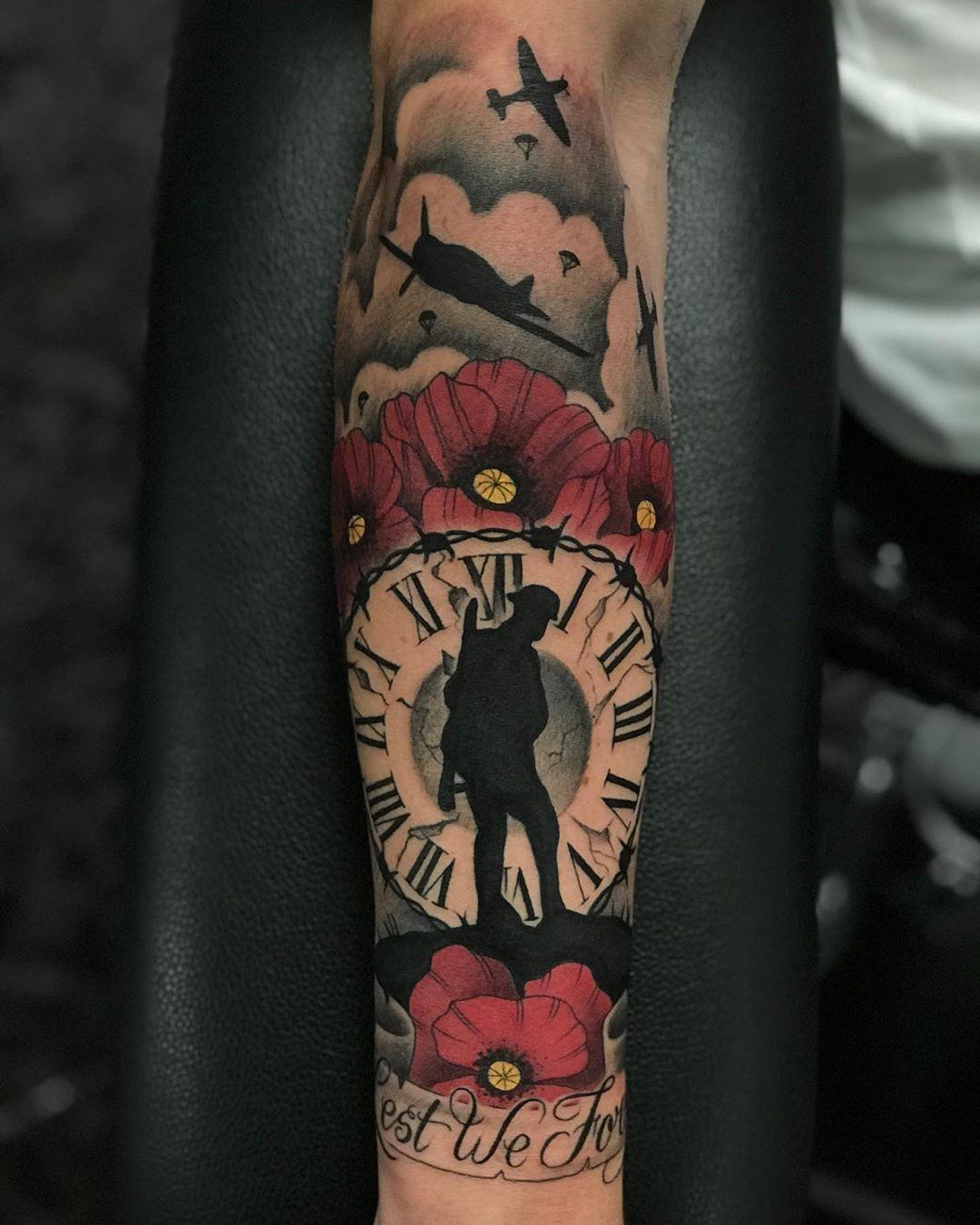 """Danny_ Birch_Tattoos on Instagram: """"Lest We Forget  Done today @mantra2tattoo ✌🏽  #mantra2 #tattoos  #tattoo #tattedup  #tattooing  #tattoomen #tatoochick  #tattoostars…"""""""