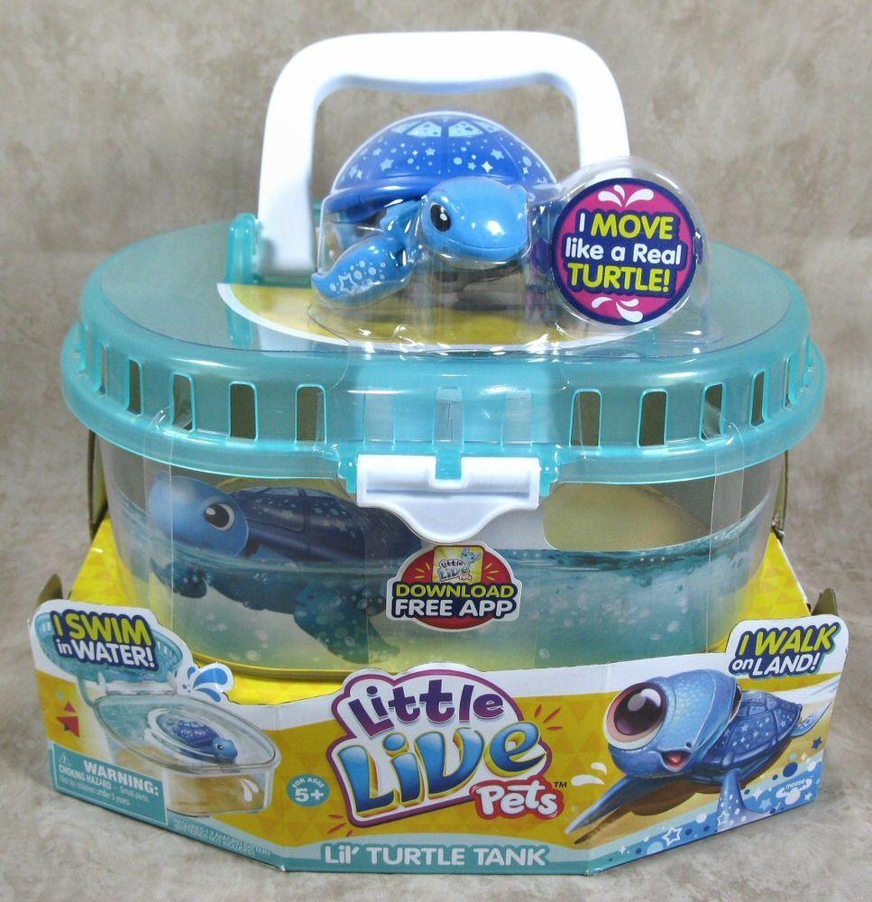 Little Live Pets Lil Turtle Tank Blue Starry Magical Turtle Littlelivepets Little Live Pets Turtle Tank Moose Toys