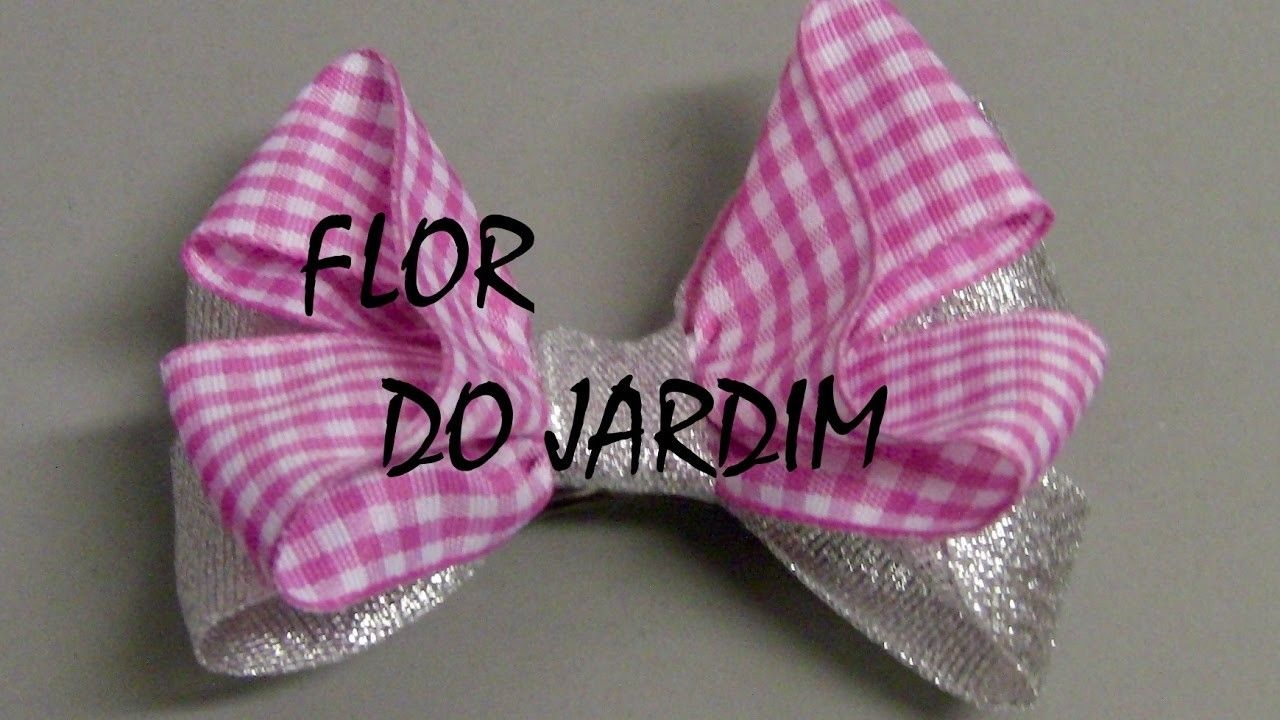 Lacinho de fita facil e rapido  - DIY - Ribbon bow