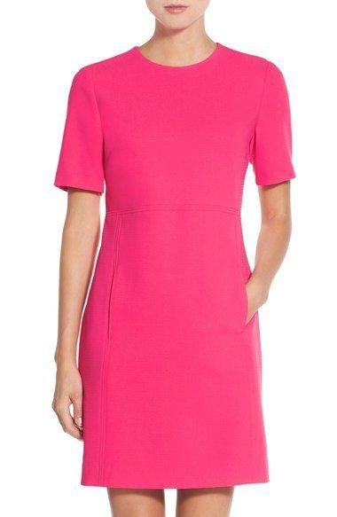 5abe40346e Seamed Crepe Shift Dress (Regular   Petite)