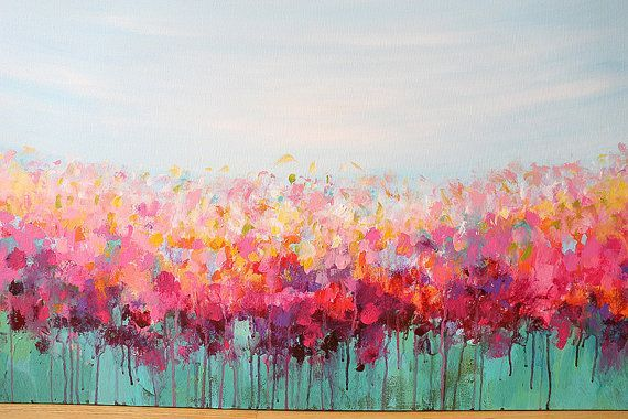 Acrylic Painting Abstract Art Flowers Painting By Artbyoak1