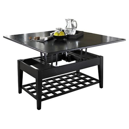Element Dual Lift Top Coffee Table In Black Coffee Table Table
