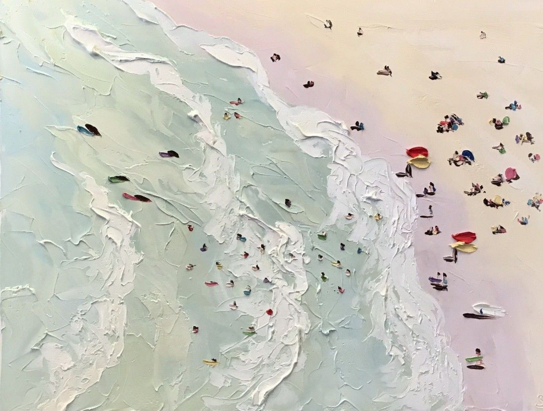 Check out 'The Beach Triptych – Plein Air 2016' by Sally West at KAB Gallery