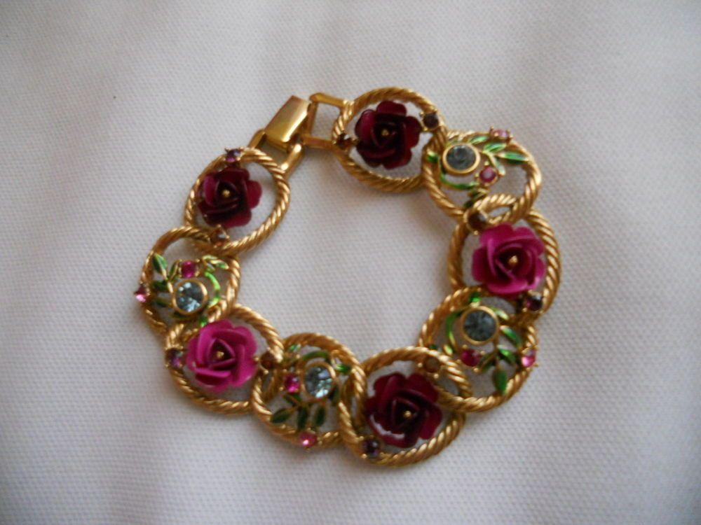 Joan Rivers Silver Pansy Bracelet