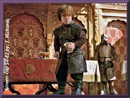 S4 E2 The Purple Wedding Joffrey S Poisoning Tyrion Inspecting The Cup Joffrey Last Drank From Game Of Thrones Costumes Game Of Thrones Funny Tyrion