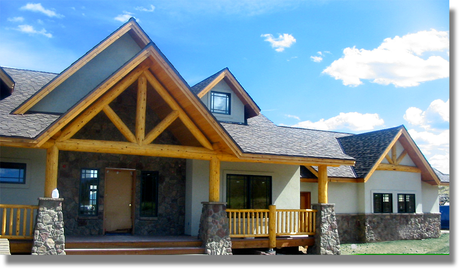 Log And Timber Accents American Craftsman Homes Of Colorado Evergreen Co With Images Craftsman House House Styles American Craftsman