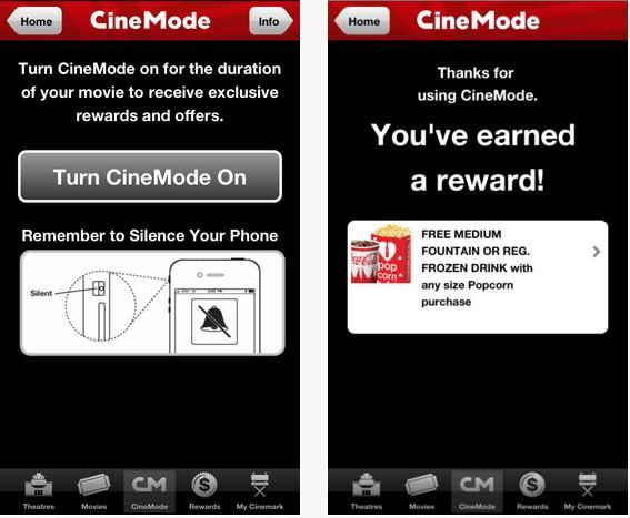 Cinemark's App Rewards Moviegoers For Not Texting App