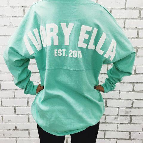 c9ed0f6b8 Mint Varsity Ella Jersey