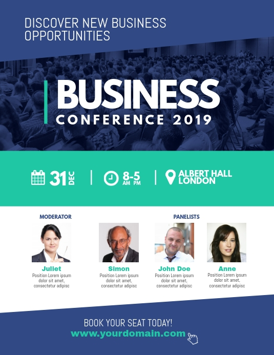 Corporate Business Conference Poster Flyer Postermywall Conference Poster Conference Design