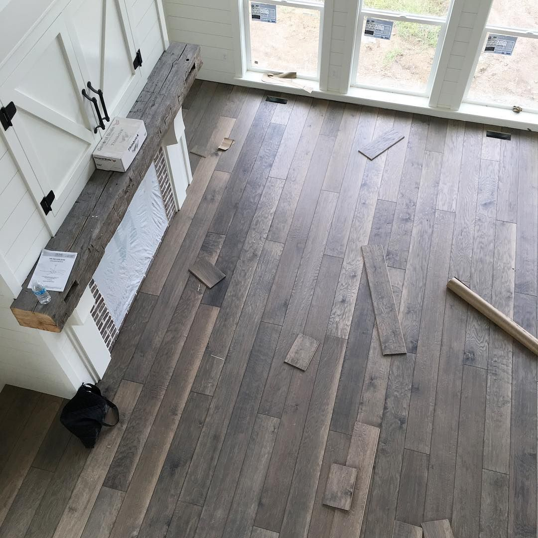 It S Independence Flooring The Arcadian Collection White Oak Engineered Hardwood In Barnwood From Star Lumber Barnwood Floors Flooring House Flooring