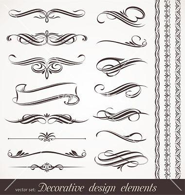 Calligraphic Design Elements Vector 533942 By Sergo On