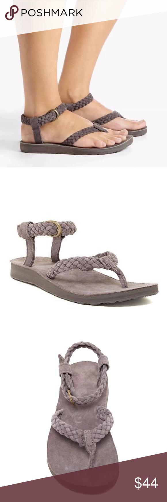 9097d399a225 New NIB Teva Original Suede Braid Thong Sandal NIB Teva Original Suede  Braid Thong Sandal Eiffel