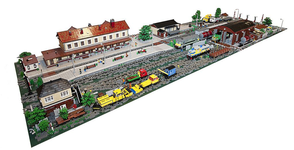how to build a lego train station