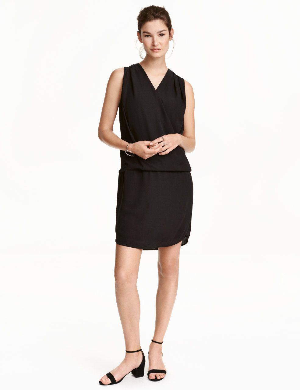 Check this out short sleeveless nursing dress in chiffon wrapover