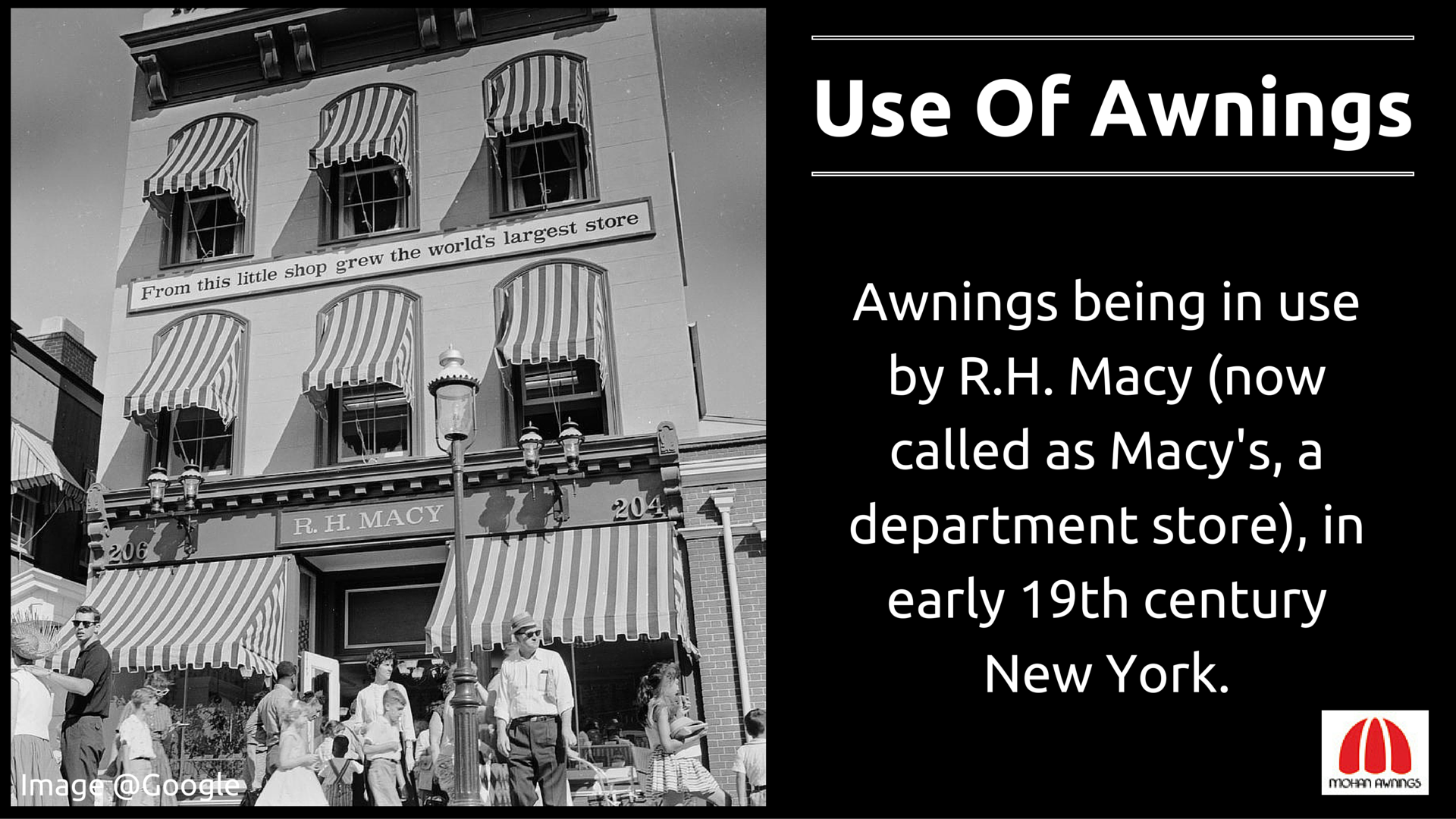 Here S Something About Awnings That We Wish To Share With You All Awning Tuesdaytrivia Macy Department Store Awning Department Store