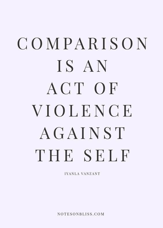 Why AND How to stop comparing yourself to others and take back
