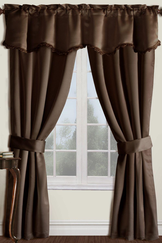 5 Piece Burlington Rod Pocket Curtain Set Cool Curtains Curtain