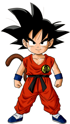 nice front view to use as reference kid goku pinterest goku