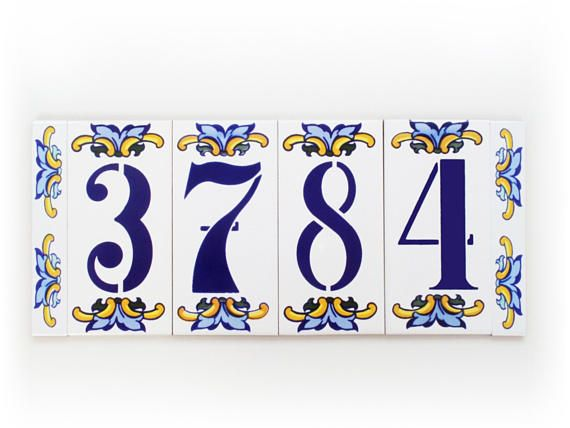 Address plaques Modern house number House number tiles Fall