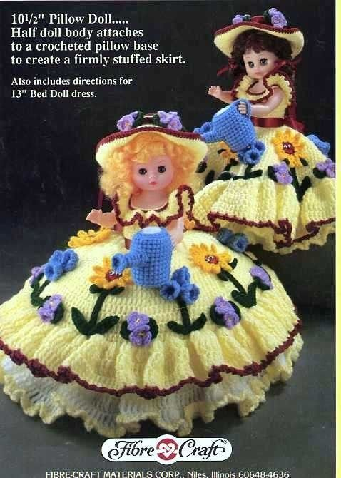 Mary Quite Contrary 105 Pillow 13 Standing Doll Crochet Pattern