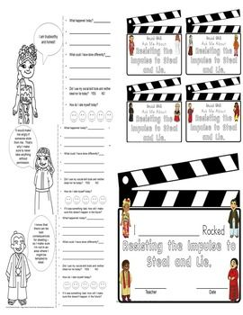 Don't Steal And Lie Social Skills/Story Worksheets No PPT