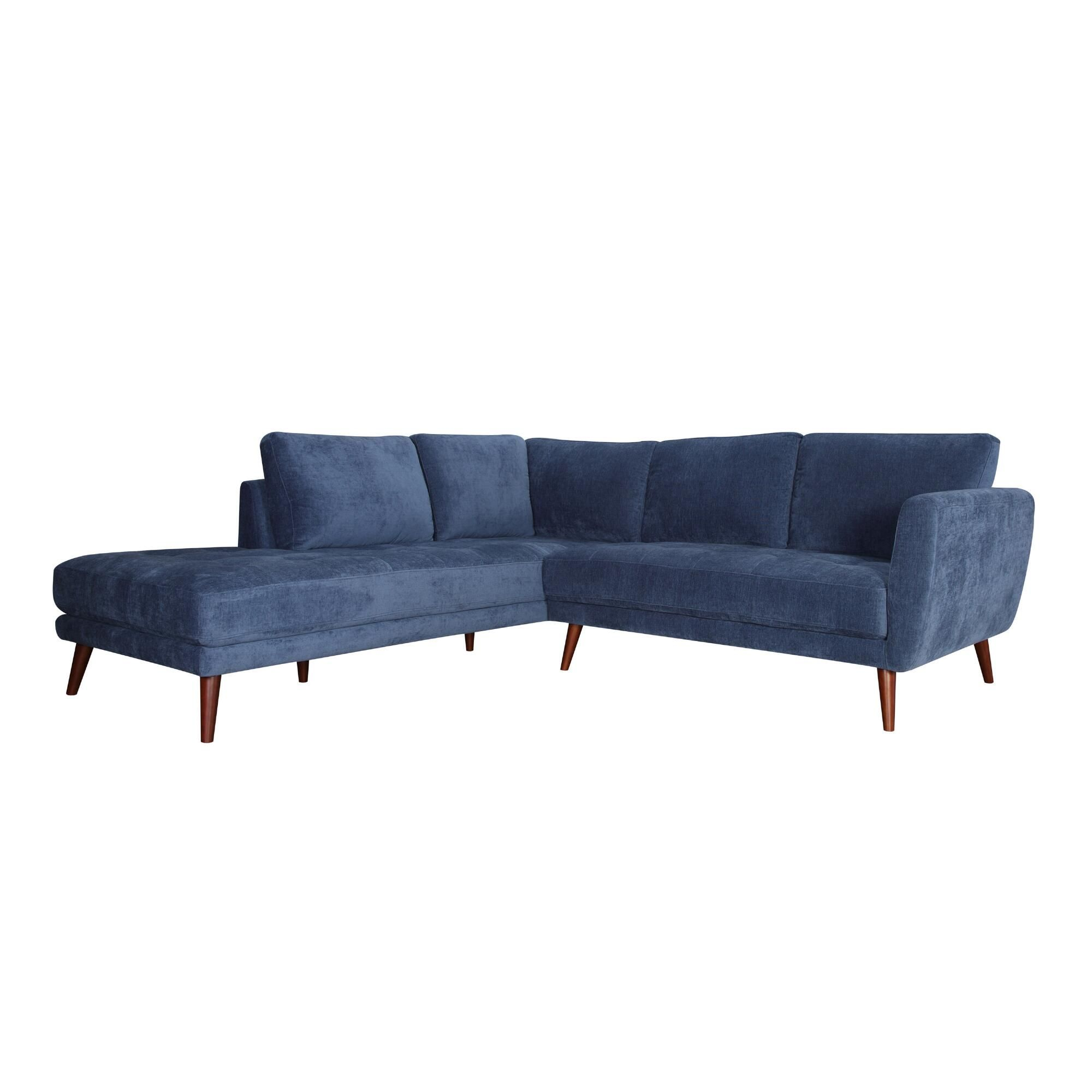 Amazing Blue Left Facing 2 Piece Campbell Sectional Sofa By World Gmtry Best Dining Table And Chair Ideas Images Gmtryco