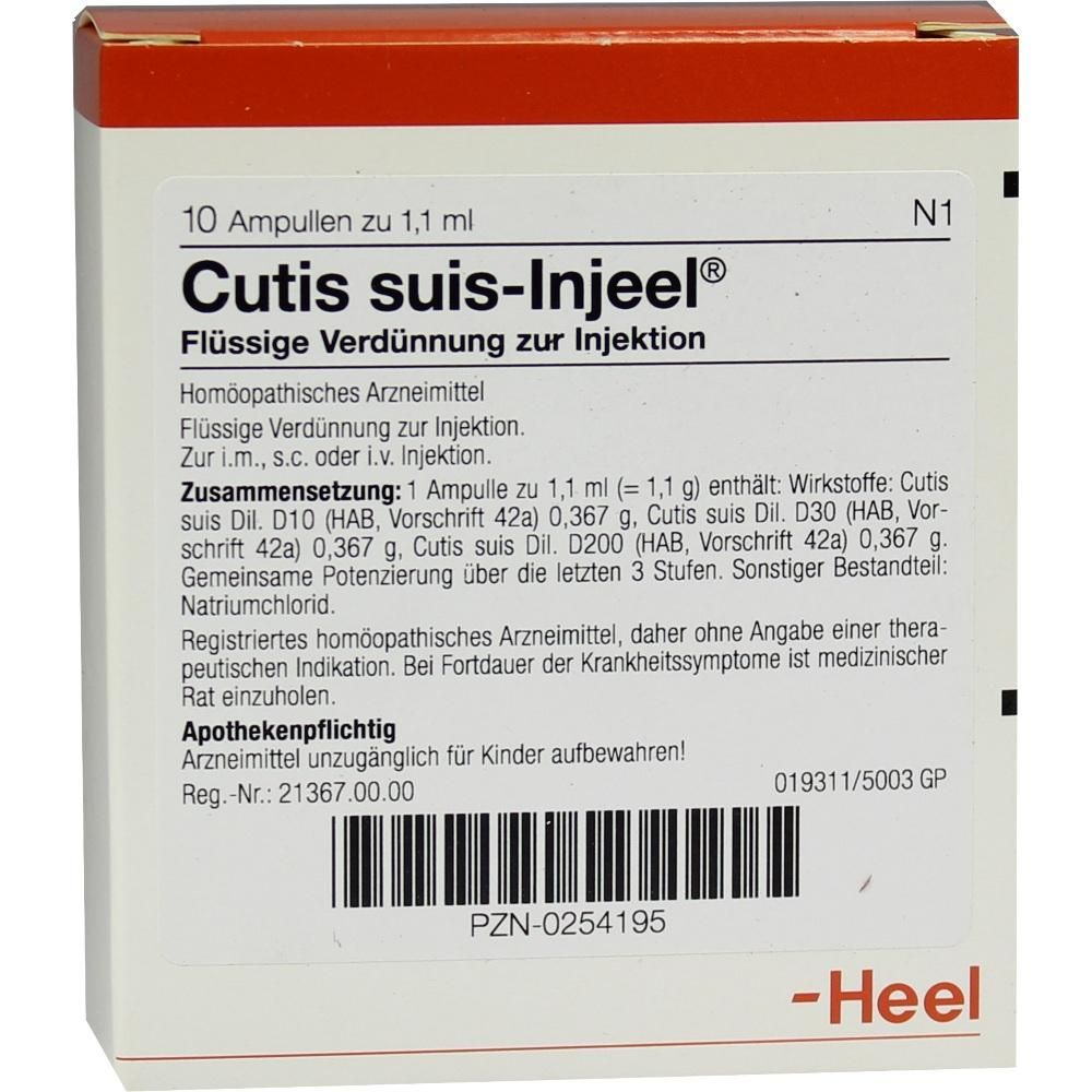 #CUTIS suis Injeel Ampullen rezeptfrei im Shop der pharma24 Apotheken
